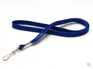 Blue tube polyester lanyard with metal swivel hook